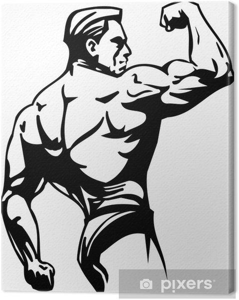 Obraz na płótnie Kulturystyka i trójbój siłowy - ilustracji wektorowych. - Części ciała