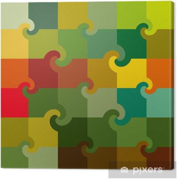 Obraz na płótnie Kwadraty Multicolor wirowa wzór - Nauki stosowane i ścisłe