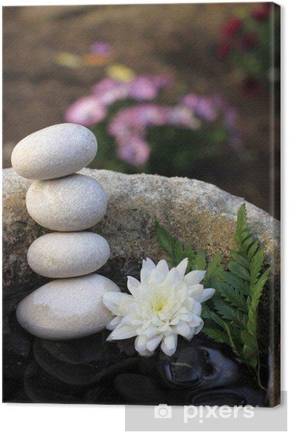Obraz na płótnie Kwiat i żwir - Zdrowie i medycyna