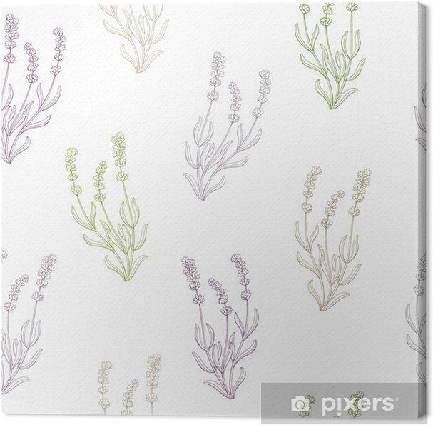 Obraz na płótnie Kwiat lawendy szkic grafiki bez szwu deseń ilustracji wektorowych - Kwiaty i rośliny