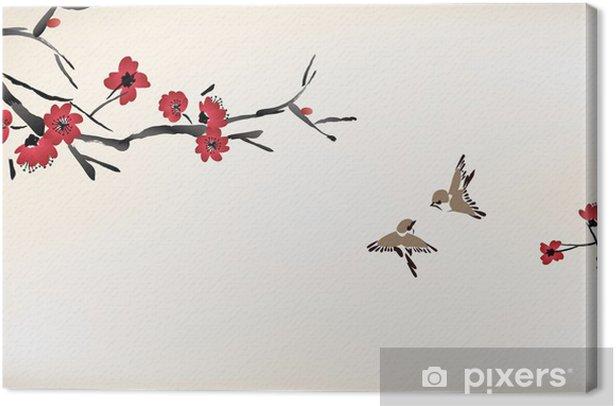 Obraz na płótnie Kwiat malowanie - Style