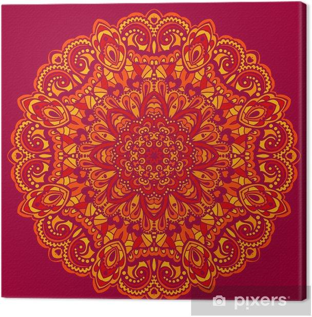 Obraz na płótnie Kwiat mandala. abstrakcyjny element projektu - Finanse