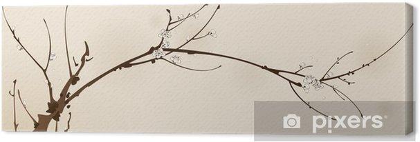 Obraz na płótnie Kwiat Plum z projektowaniem linii - Tematy