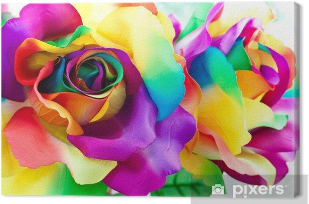 Obraz na płótnie Kwiat róży fałszywe -