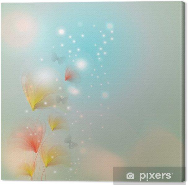 Obraz na płótnie Kwiat z mocą bokeh - Pory roku
