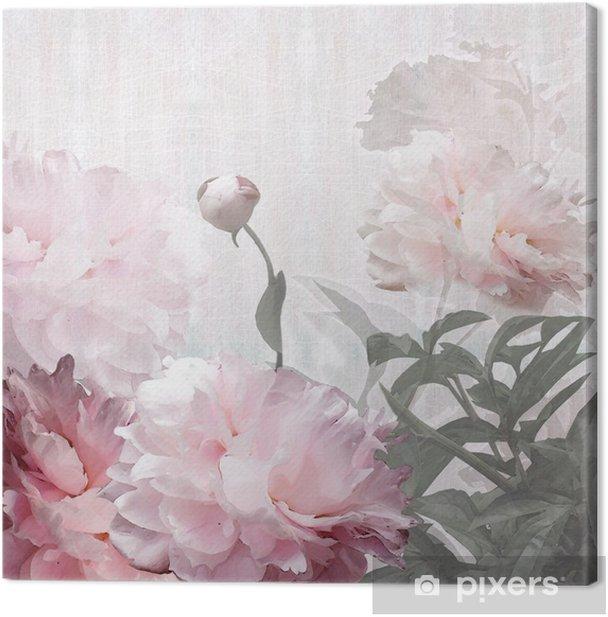 Obraz na płótnie Kwiatów projektowania piwonie - Style