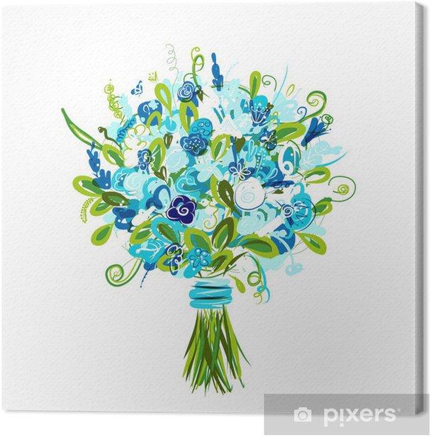 Obraz na płótnie Kwiatowy bukiet dla projektu - Kwiaty