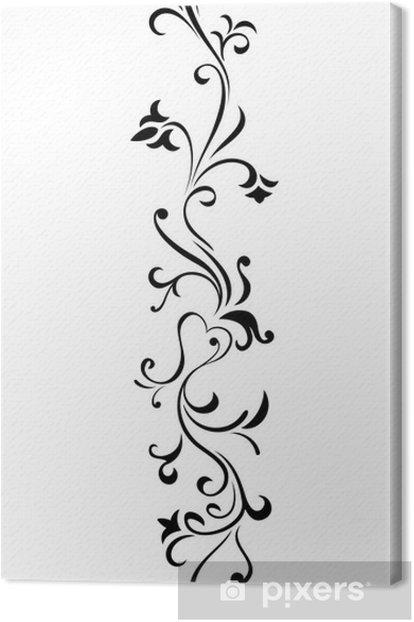 Obraz na płótnie Kwiatowy ornament - Kwiaty