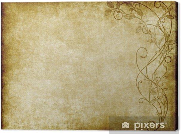 Obraz na płótnie Kwiatowy papier lub pergamin - Tła
