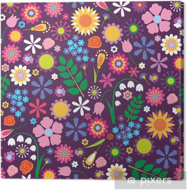 Obraz na płótnie Kwiatowy powtarzalne - Tła