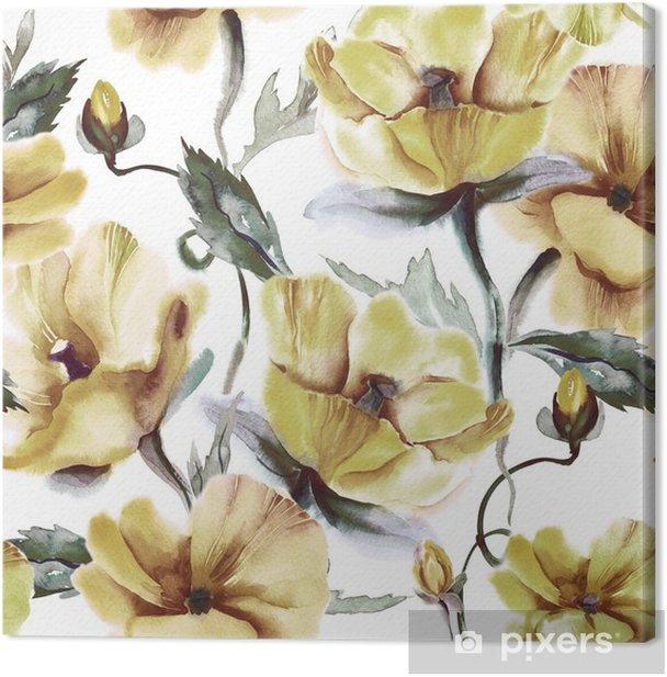 Obraz na płótnie Kwiatowy powtarzalne - Rośliny i kwiaty