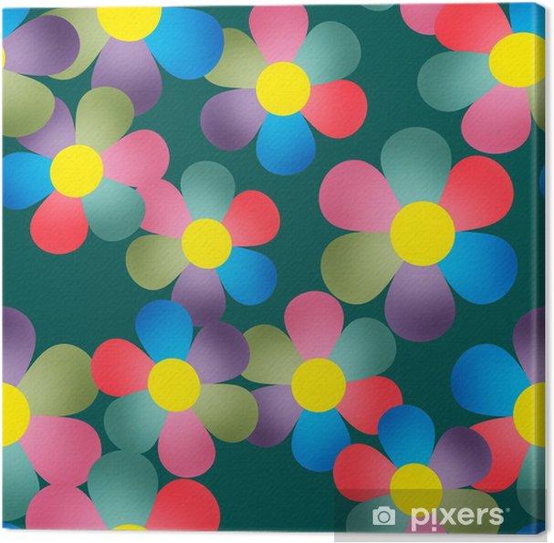 Obraz na płótnie Kwiatowy szwu z kolorowymi kwiatami w tle - Świętowanie