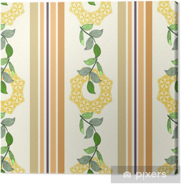 Obraz na płótnie Kwiatowy wzór, bez szwu tła - Pory roku