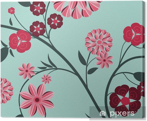 Obraz na płótnie Kwiatowy wzór tła - Rośliny