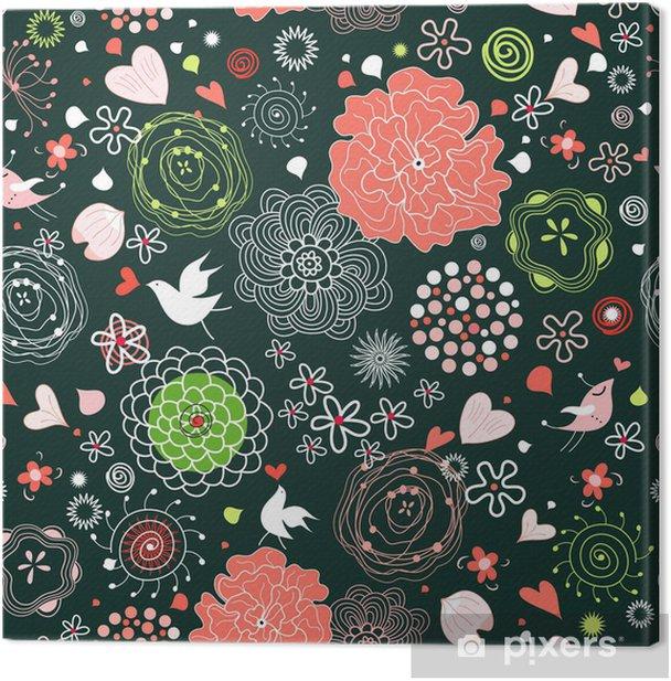 Obraz na płótnie Kwiatowy wzór - Tekstury