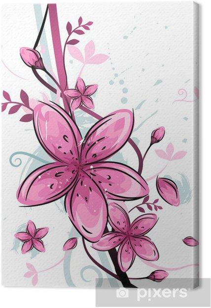 Obraz na płótnie Kwiatowy wzór - Kwiaty