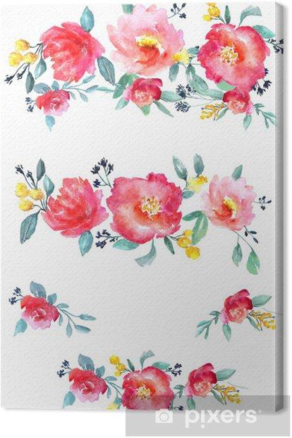 Obraz na płótnie Kwiaty akwarela Ustaw - Świętowanie