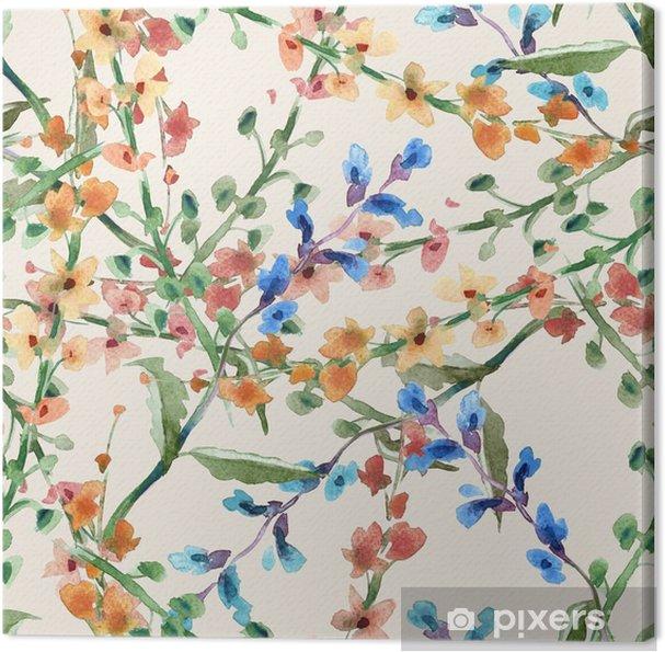 Obraz na płótnie Kwiaty bez szwu wzór pole - Rośliny i kwiaty