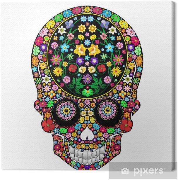Obraz na płótnie Kwiaty Czaszka Ozdobne Art Design-teschio Floreale - Części ciała