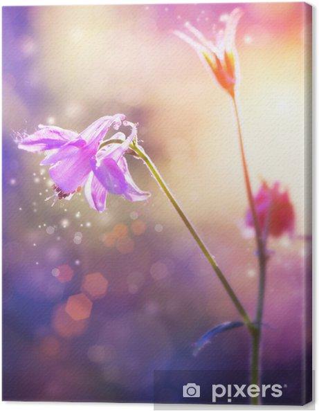 Obraz na płótnie Kwiaty. Floral Abstract fioletowy wzór. Soft Focus - Kwiaty