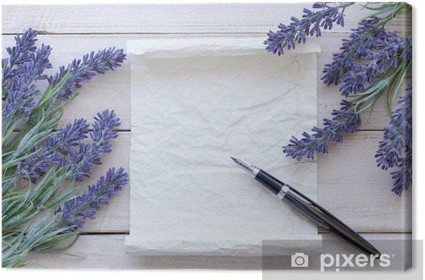 Obraz na płótnie Kwiaty na zabytkowe drewna z blank - Świętowanie