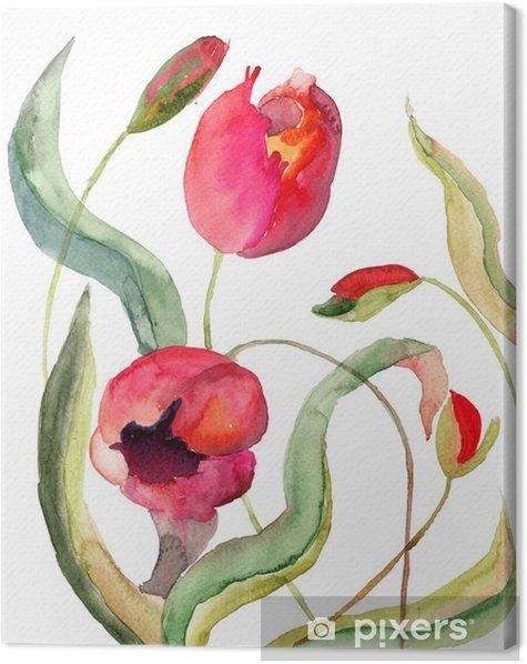 Obraz na płótnie Kwiaty tulipanów - Kwiaty