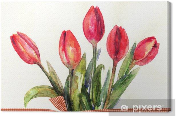 Obraz na płótnie Kwiaty w tle - Sztuka i twórczość