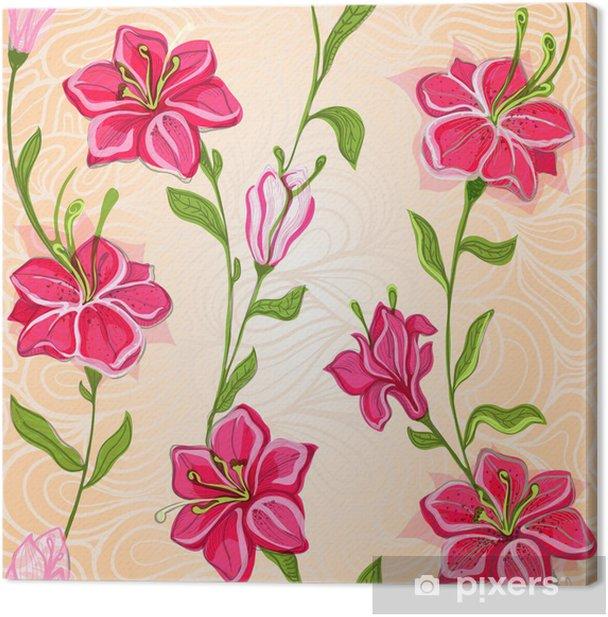 Obraz na płótnie Kwiaty wzór na bezproblemową tle - Tekstury