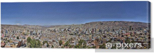 Obraz na płótnie La Paz Boliwia od Killi Killi Viewpoint - Ameryka