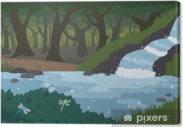 Obraz na płótnie Las - Woda