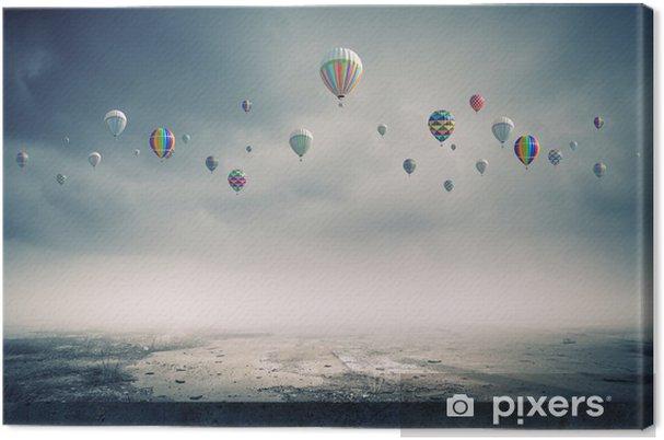 Obraz na płótnie Latające balony - Przeznaczenia