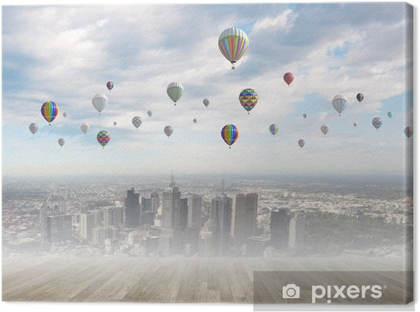 Obraz na płótnie Latające balony - Święta Narodowe