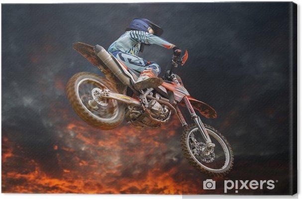 Obraz na płótnie Latające Motocross Fire Storm - Rozrywka