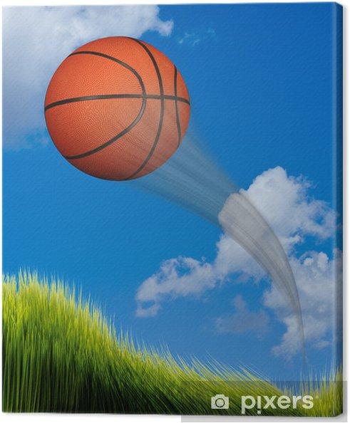 Obraz na płótnie Latający koszykówki. - Artykuły sportowe