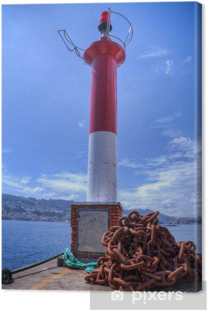 Obraz na płótnie Latarnia morska w porcie Domaio. - Życie