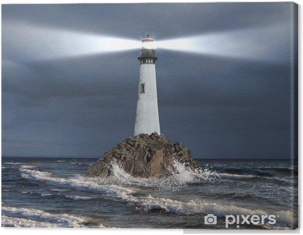 Obraz na płótnie Latarnia z promienia światła - Latarnia morska
