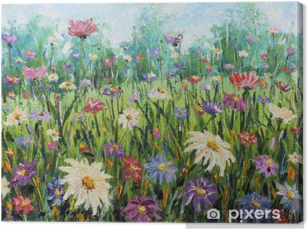 Obraz na płótnie Lato dzikich kwiatów, obraz olejny - Rośliny i kwiaty