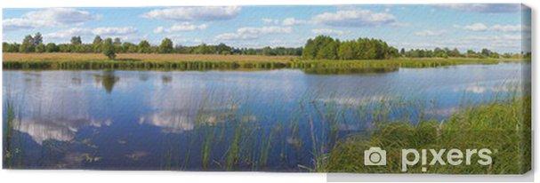 Obraz na płótnie Lato rushy jezioro panorama - Pory roku