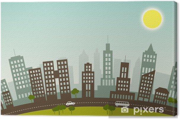 Obraz na płótnie Lato w mieście - Pejzaż miejski
