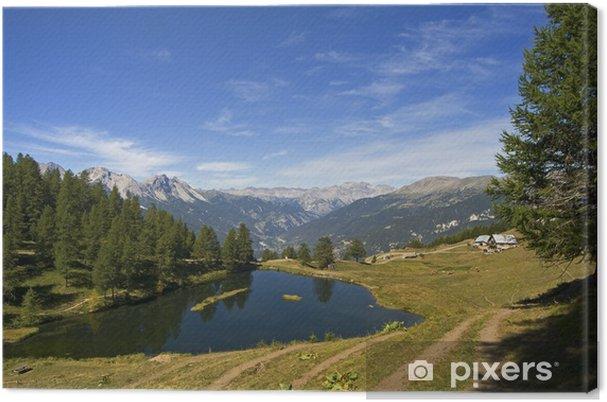 Obraz na płótnie Laune Lake - refleksje na temat wody - Susa Valley - Włochy - Europa