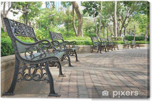 Obraz na płótnie Ławki żelaza w parku, w Bangkoku w Tajlandii - Wakacje