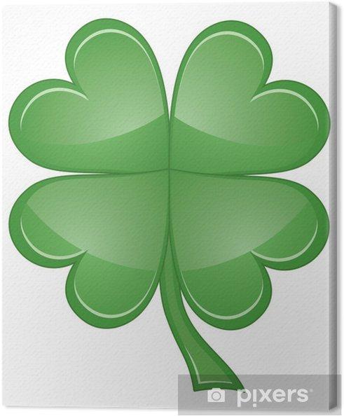 Obraz na płótnie Leaf Clover Shamrock lub Four - Inne przedmioty