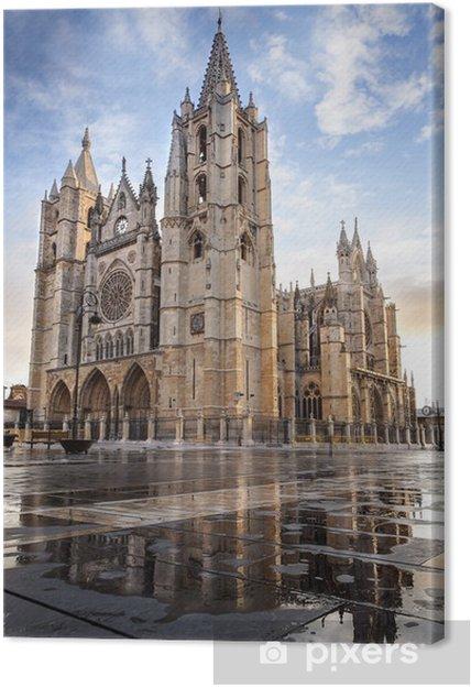 Obraz na płótnie León Cathedral Hiszpania - Europa