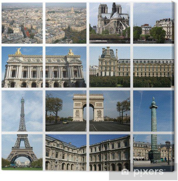 Obraz na płótnie Les zabytki de Paris - Miasta europejskie