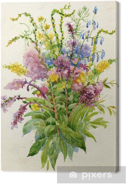 Obraz na płótnie Letni bukiet kwiatów - Style