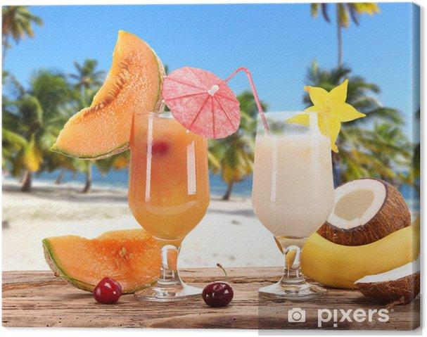Obraz na płótnie Letnie napoje na plaży - Posiłki