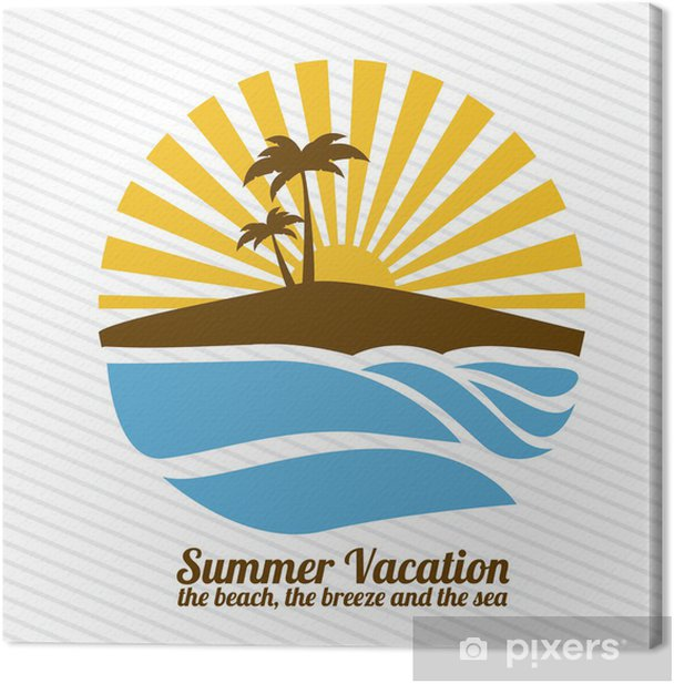 Obraz na płótnie Letnie wakacje - Akcesoria