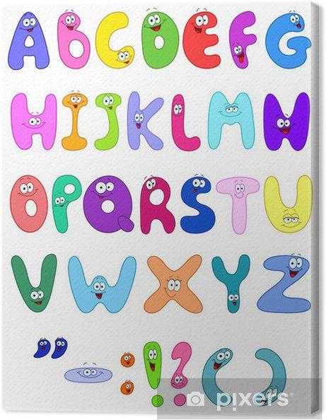 Obraz na płótnie Letters Cartoon - Edukacja