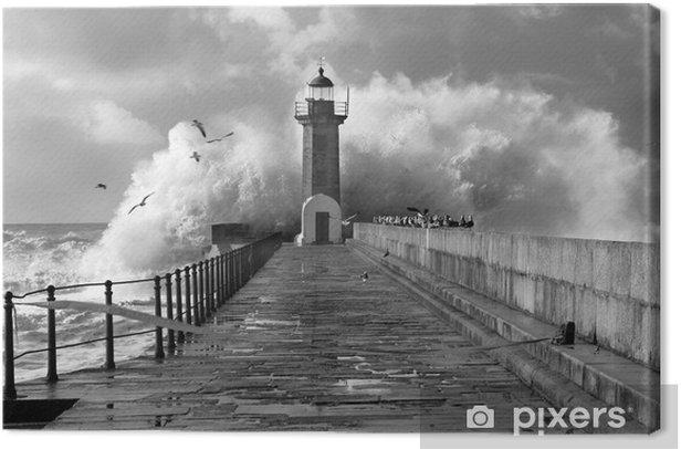 Obraz na płótnie Lighthouse, Foz do Douro, Portugalia - Latarnia morska