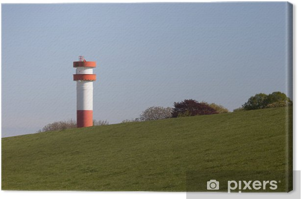 Obraz na płótnie Lighthouse Under Fire, Krautsand - Wakacje